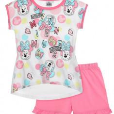 Pijama de vara Disney Minnie alb/roz