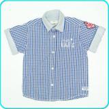 Camasa cu maneci scurte, bumbac, STRONG & SUSTAINABLE→ baieti | 4—5 ani | 110 cm, Alta, Albastru
