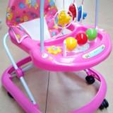 Premergator cu jucarii si muzica, 1-3 ani, Roz