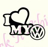I Love My Volkswagen_Tuning Auto_Cod: CST-063_Dim: 15 cm. x 11.9 cm.