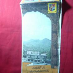 Harta Turistica a Judetului Maramures, anii '70