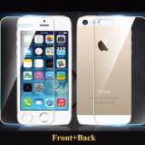Folie FATA + SPATE protectie din sticla securizata Apple iPhone 5 5S - Folie de protectie