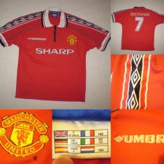 Tricou Fotbal BECKHAM Manchester original de joc fan suporter colectie nationala - Tricou echipa fotbal, Marime: XS, Culoare: Din imagine