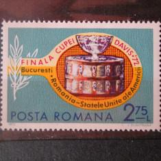 1972 LP 809 FINALA CUPEI DAVIS - Timbre Romania, Nestampilat