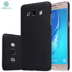 Husa Samsung Galaxy J5 2016 Nillkin Frosted Shield Neagra / Black + Folie De Protectie - Husa Telefon