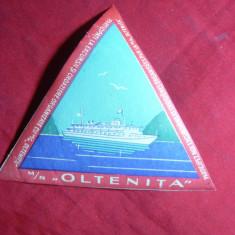 Vigneta adeziva -Reclama Turistica - Vasul Oltenita , l= 10 cm