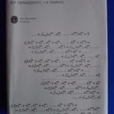 Computational mathematics - B.P. Demidovich /  R3P1S, Alta editura