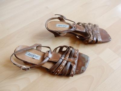 Sandale Ariane din piele naturala; marime 38 (24.2 cm talpic interior) foto