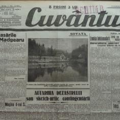Cuvantul, ziar legionar, 7 Mai 1933, articole Nae Ionescu, Perpessicius