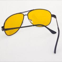 Ochelari pentru condus- UV 400 HD Night Vision - model Aviator