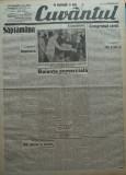 Cuvantul , ziar legionar , 8 Mai 1933 , articole Mihail Sebastian , Perpessicius