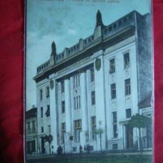 Ilustrata Targu Mures - Palatul Postei, cca.1917, color - Carte Postala Transilvania 1904-1918, Necirculata, Printata