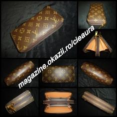 PORTOFEL PLIC DAMA GEN FIRMA LOUIS VUITTON MONOGRAM 2 FERMOARE 17 COMPARTIMENTE - Portofel Dama Louis Vuitton, Culoare: Alb, Maro, Cu fermoar
