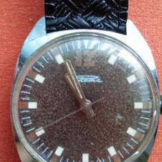 CEAS DE MANA RAKETA - Ceas barbatesc, Elegant, Mecanic-Manual, Piele - imitatie, 1970 - 1999