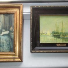 Reproduceri- Foto C. Monet si Doamna epoca ulei pe placaj. - Reproducere