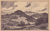 H.W. STILHAMMER. VEDERE DE PE UNGUREANA SI COSNA DIN TARGUL OCNA . FELDPOSTKARTE, Necirculata, Printata