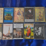 Lot 12 Casete audio Muzica Religioasa,Crestina.Cantari Religioase,Bisericesti