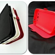 Husa FlipCover Stand Magnet Huawei Y3 / Y360 ROSU