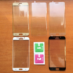 Folie Sticla Securizata Curbata / Tempered Samsung Galaxy S6 edge plus