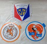 FOTBAL:FANION+2 STICKERE+PLANSA+POSTER+FOTO/OLANDA 1988(KNVB/FEDERATIA OLANDEZA)