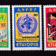 Etiopia  1980  medicina  antifumat  MI 1047-1049   MNH  w34, Nestampilat