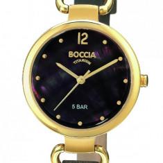Ceas Boccia dama cod 3232-04 - pret 479 lei (Nou, original) - Ceas dama Boccia, Casual, Quartz, Titan, Piele, Analog