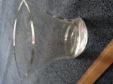 Vaza aplatizata din sticla 20 cm
