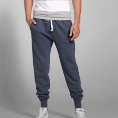 Pantaloni trening/lounge Abercombie NYC masura XL - Pantaloni barbati, Culoare: Albastru, Bumbac
