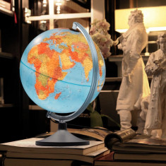 Glob geografic Lumierissimo iluminat 30 cm