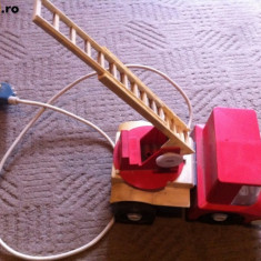 masinuta pompieri din plastic jucarie ruseasca urss sovietica comunista anii 70