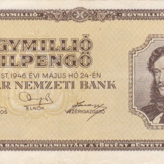 UNGARIA 1.000.000 pengo 1946 VF+++!!! - bancnota europa