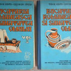 Bucataria Romaneasca si sanatatea omului Vol. I si II - 1975 - Carte Retete traditionale romanesti