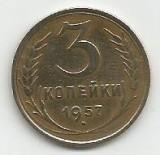 RUSIA URSS 3 COPEICI KOPEICI KOPEIKI 1957  [3]  livrare in cartonas