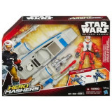 Jucarie Star Wars Hero Mashers Episode Vii Resistance X-Wing And Resistance Pilot, Hasbro