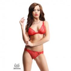 Set lenjerie intima Oliv M rosu - Sex Shop Erotic24 - Lenjerie sexy femei