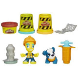 Jucarie Play-Doh Town Road Worker And Pup Toy - Jocuri arta si creatie