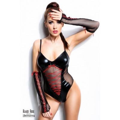 Body Black Rose L/XL cu manusi - Sex Shop Erotic24 foto
