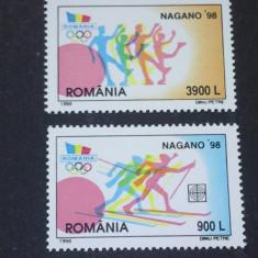 Romania 1998-LP 1447-Jocurile olimpice Nagano, nestampilate. - Timbre Romania