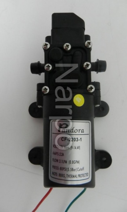 Pompa de apa electrica cu presostat pulverizator 12V 2.2A CF-2203-1 Pandora