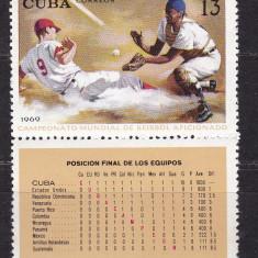 Cuba 1969 sport MI 1501 MNH w34 - Timbre straine, Nestampilat