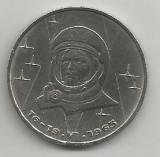 RUSIA URSS 1 RUBLA 1983 [1] Prima Femeie in Spatiu VALENTINA TERESHKOVA, Europa, Cupru-Nichel