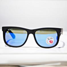Ochelari de soare Ray Ban Justin RB4165 622/17 Polarizati, Barbati, Verde, Dreptunghiulari, Plastic, Polarizare