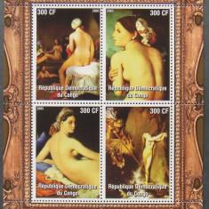 CONGO 2005 - PICTURA NUDURI INGRES, 1 M/SH NEDANTELATA, NEOBLITERATA - PP 1112 - Timbre straine, Arta, Nestampilat
