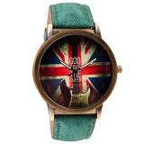 Nou 2016 Ceas UK Retro Design - Anglia - Vintage - Turcoaz - Feminin - Ceas dama, Analog