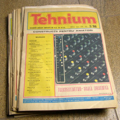 Lot REVISTA TEHNIUM anii '80 aprox 20 de numere(1172) - Revista IT