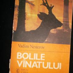 Bolile vanatului (vanatoare )an 1984/300pag/161figuri- Vadim Nesterov - Carte Biologie