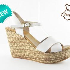 Sandale dama piele naturala 028 Bianco, Marime: 38, 40, 41