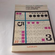 Probleme celebre din istoria matematicii Florica T Campan{prima editie},RF10/4