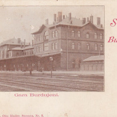 SUCEVA BUCOVINA SALUTARI DIN BURDUJENI GARA CLASICA EDITURA OTTO BINDER - Carte Postala Bucovina pana la 1904, Necirculata, Printata