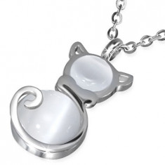 Lantisor din inox cu pandantiv pisica - Pandantiv inox